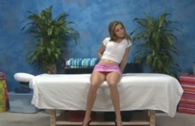 kara gets her clothes off. massage