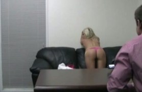 fresh chick takes her panties off
