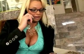 blonde business lady gets fucked