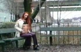 swedish european teen takes black cock in train
