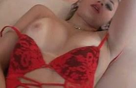 ann in red bodysuit