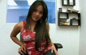 tanned filipino lana violet gets her clothes off