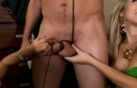 three milfs caught him masturbating