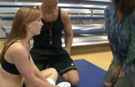 coach fucks redhead teacher, then young student