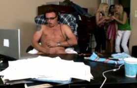 caught him masturbating and helped