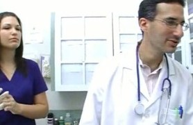 busty doctor fulfills her own needs