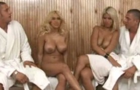 fashionable ladies get fucked in sauna