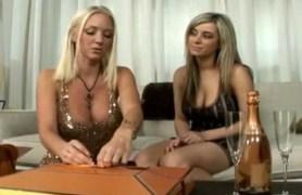 blonde lesbians having fun