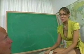 not allowed to cum until young teacher lets