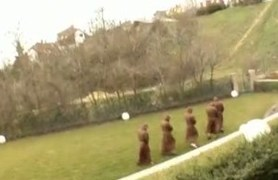 bride and five monks.