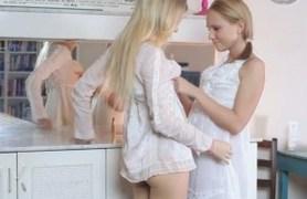 lesbian caresses.