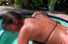erin stone gets hardcored by the pool.