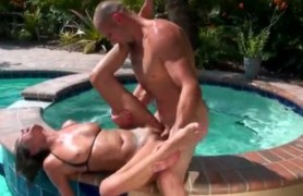 fresh erin stone gets banged by the pool.