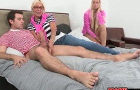 mom gets fucked in front of her step-daughter.
