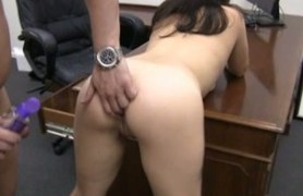two hotties getting bent over the desk and fucked.
