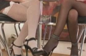 skinny euro lesbians in lingerie.