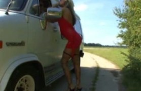 blonde hitchhiker.