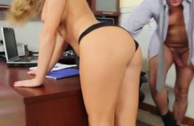 her boss's found an inappropriate email so he fucks her.