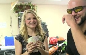 babe gets hardcored at the scooter store.