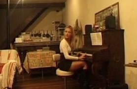 gorgeous musician ass fucked during piano lesson.