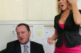 amber ashlee gets called into her boss's office.