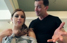 petite lexi belle gets on her knees to give head.