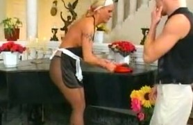 tall maid in pantyhose gets nailed.