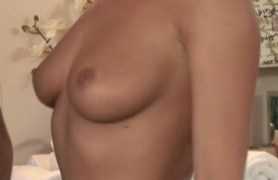 rubbing her pussy and my cock.