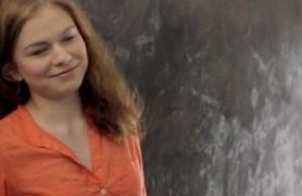 redhead girl ksenija spreading