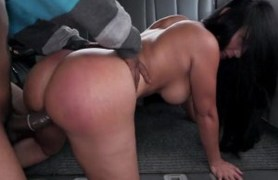 dark colombian ass gets fucked in our bus