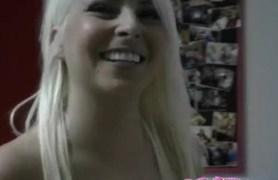 blonde college girl masturbating on camera