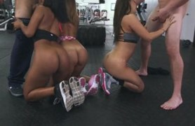 ass orgy at the gym