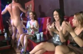 girls having a blowjob party